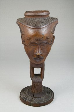 Kuba. Goblet in the Form of a Head (Mbwoongntey), early 20th century. Wood, 8 3/4 x 3 9/16 in. (22.3 x 9 cm). Brooklyn Museum, Museum Expedition 1922, Robert B. Woodward Memorial Fund, 22.120. Creative Commons-BY