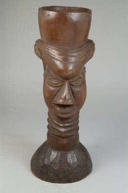 Kuba. Single Head Goblet (Mbwoongntey), early 20th century. Wood, 9 x 4 in. (22.9 x 10.2 cm). Brooklyn Museum, Museum Expedition 1922, Robert B. Woodward Memorial Fund, 22.121. Creative Commons-BY