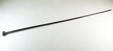 Cane, late 19th century. Wood, 35 1/4 x 1 1/4 in. (89.5 x 3.2 cm). Brooklyn Museum, Museum Expedition 1922, Robert B. Woodward Memorial Fund, 22.1311. Creative Commons-BY