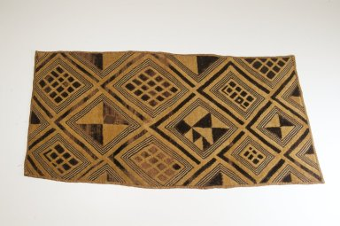 Kuba (Bushoong subgroup). Raffia Cloth, 19th century. raffia, 25 5/8 x 13 1/2 in. (65.0 x 34.2 cm). Brooklyn Museum, Museum Expedition 1922, Robert B. Woodward Memorial Fund, 22.1349. Creative Commons-BY