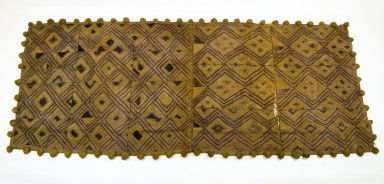 Kuba (Bushoong subgroup). Raffia Cloth, 19th century., 139.0 x 60.0 cm. Brooklyn Museum, Museum Expedition 1922, Robert B. Woodward Memorial Fund, 22.1350. Creative Commons-BY