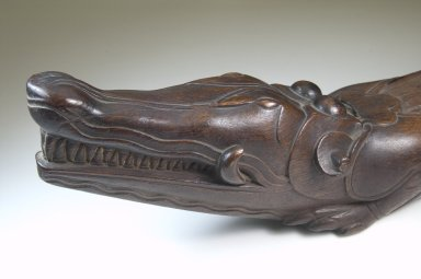Slit Gong in Form of Alligator, late 19th or early 20th century. Wood, 6 1/4 x 5 x 47 in. (15.9 x 12.7 x 119.4 cm). Brooklyn Museum, Museum Expedition 1922, Robert B. Woodward Memorial Fund, 22.1351. Creative Commons-BY