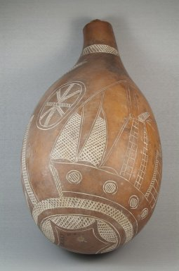 Calabash, before 1922. Calabash, clay, height: 13 3/4 in. (35 cm); diameter: 7 1/2 in. (19.1 cm). Brooklyn Museum, Museum Expedition 1922, Robert B. Woodward Memorial Fund, 22.1355. Creative Commons-BY