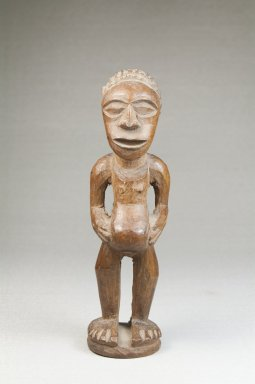 Songye. Figure of a Standing Female, late 19th or early 20th century. Wood, 6 x 1 3/4 x 2 in. (15.2 x 4.4 x 5.1 cm). Brooklyn Museum, Museum Expedition 1922, Robert B. Woodward Memorial Fund, 22.1432. Creative Commons-BY