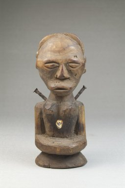 Songye. Half Figure, late 19th or early 20th century. Wood, iron, tooth, 5 1/4 x 2 1/4 x 2 in. (13.3 x 5.7 x 5.1 cm). Brooklyn Museum, Museum Expedition 1922, Robert B. Woodward Memorial Fund, 22.1433. Creative Commons-BY