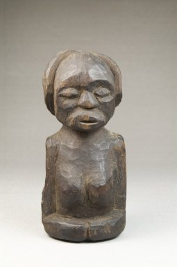 Songye. Half Figure, late 19th or early 20th century. Wood, 5 1/4 x 2 1/2 x 2 in. (13.3 x 6.4 x 5.1 cm). Brooklyn Museum, Museum Expedition 1922, Robert B. Woodward Memorial Fund, 22.1435. Creative Commons-BY