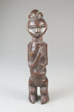 Yaka. Standing Female Figure, 19th century. Wood, 6 3/4 x 1 1/2 x 1 1/4 in. (17.0 x 4.0 x 3.2 cm). Brooklyn Museum, Museum Expedition 1922, Robert B. Woodward Memorial Fund, 22.1438. Creative Commons-BY