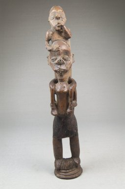 Possibly Mbala. Piggy Back Figure, late 19th or early 20th century. Wood, pigment, 10 1/2 x 2 x 2 1/4 in. (26.8 x 5.0 x 5.5 cm). Brooklyn Museum, Museum Expedition 1922, Robert B. Woodward Memorial Fund, 22.1439. Creative Commons-BY