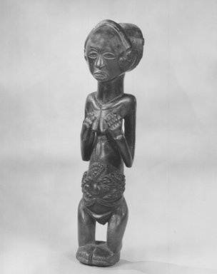 Luba. Staff Finial, 19th century. Wood, 10 x 2 1/4 x 2 1/8 in. (25.4 x 5.7 x 5.4 cm). Brooklyn Museum, Museum Expedition 1922, Robert B. Woodward Memorial Fund, 22.1452. Creative Commons-BY