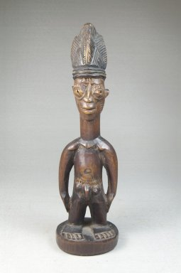 Yoruba. Figure of a Standing Male (Ere Ibeji), late 19th or early 20th century. Wood, 10 1/2 in. (24.5 x 7 cm). Brooklyn Museum, Robert B. Woodward Memorial Fund, 22.1459. Creative Commons-BY