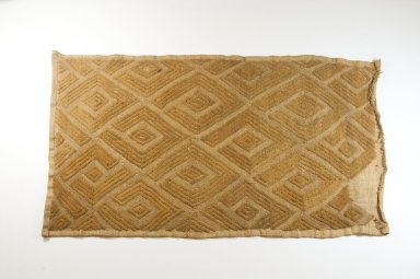 Kuba (Bushoong subgroup). Raffia Cut-Pile Panel, 19th century. Raffia, 12 1/2 x 24 in. (31.0 x 61.0 cm). Brooklyn Museum, Museum Expedition 1922, Robert B. Woodward Memorial Fund, 22.1496. Creative Commons-BY
