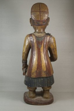 Yoruba. Figure of a Standing Male, late 19th or early 20th century. Wood, pigment