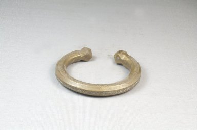 Cast Engraved Bracelet. Brass Brooklyn Museum, Museum Expedition 1922, Robert B. Woodward Memorial Fund, 22.1531. Creative Commons-BY