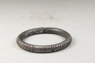 Small Engraved Bracelet. Iron Brooklyn Museum, Museum Expedition 1922, Robert B. Woodward Memorial Fund, 22.1545. Creative Commons-BY