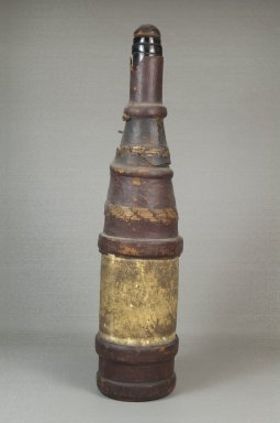 Manding. Bottle with Stopper, late 19th-early 20th century. Hide, glass, reed, 14 1/2 x 3 1/4 in. (36.8 x 8.3 cm). Brooklyn Museum, Museum Expedition 1922, Robert B. Woodward Memorial Fund, 22.1648. Creative Commons-BY