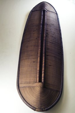 Buaka. Shield, 19th century. Wood, fiber, 50 x 13 3/4 in. (127 x 34.9 cm). Brooklyn Museum, Museum Expedition 1922, Robert B. Woodward Memorial Fund, 22.1687. Creative Commons-BY