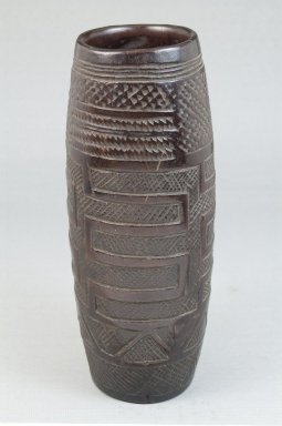 Kuba. Cup, late 19th or early 20th century. Wood, 7 1/8 x 3 x 3 in. (18.1 x 7.6 x 7.6 cm). Brooklyn Museum, Museum Expedition 1922, Robert B. Woodward Memorial Fund, 22.173. Creative Commons-BY
