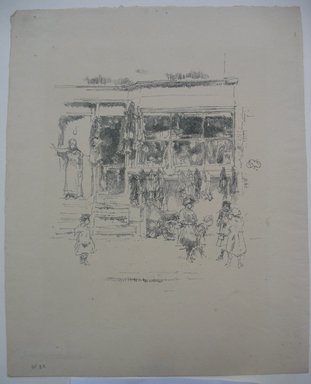 James Abbott McNeill Whistler (American, 1834-1903). Chelsea Rags, 1888. Lithograph, 11 1/8 x 8 15/16 in. (28.3 x 22.7 cm). Brooklyn Museum, Museum Collection Fund, 22.1763