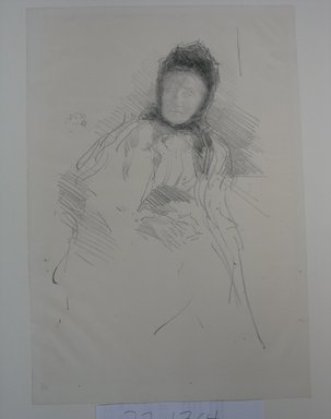 James Abbott McNeill Whistler (American, 1834-1903). Unfinished Sketch of Lady Haden, 1895. Lithograph, 14 9/16 x 10 1/8 in. (37 x 25.7 cm). Brooklyn Museum, Museum Collection Fund, 22.1764