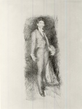 James Abbott McNeill Whistler (American, 1834-1903). Count Robert De Montesquiou, Number Two, 1895. Lithograph, 14 3/8 x 10 3/16 in. (36.5 x 25.9 cm). Brooklyn Museum, Museum Collection Fund, 22.1809