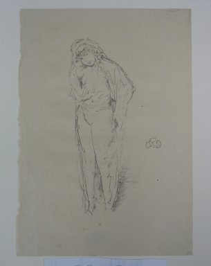 James Abbott McNeill Whistler (American, 1834-1903). Draped Figure Standing, 1891. Lithograph, 11 7/8 x 8 3/8 in. (30.2 x 21.3 cm). Brooklyn Museum, Museum Collection Fund, 22.1811