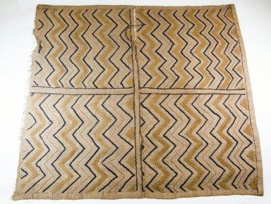 Raffia Cloth, 19th century. Raffia, 28 x 25 1/2 in. (71.1 x 64.8 cm). Brooklyn Museum, Museum Expedition 1922, Robert B. Woodward Memorial Fund, 22.1960. Creative Commons-BY