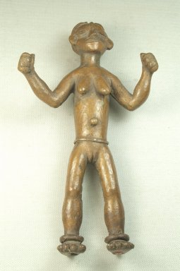 Bwayen (We, flourished 1920s-1930s). Standing Female Nude, late 19th or early 20th century. Copper alloy, 9 x 5 x 2 3/4 in. (22.9 x 12.7 x 7.0 cm). Brooklyn Museum, Museum Expedition 1922, Robert B. Woodward Memorial Fund, 22.254. Creative Commons-BY