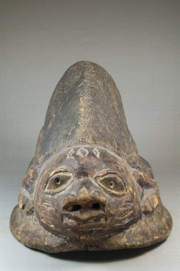 Yoruba. Gelede Mask, late 19th century. Wood, 8 1/2 x 8 1/2 x 12 1/2 in. (21.6 x 21.6 x 31.8 cm). Brooklyn Museum, Museum Expedition 1922, Robert B. Woodward Memorial Fund , 22.331. Creative Commons-BY