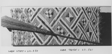 Luba. Ceremonial Staff (Kibango), late 19th-20th century., 45 11/16 in. (116 cm). Brooklyn Museum, Museum Expedition 1922, Robert B. Woodward Memorial Fund, 22.350. Creative Commons-BY