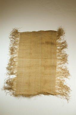 Possibly Kuba. Raffia Cloth, 19th century. Raffia, 21 5/8 x 11 3/8 in. (55.0 x 29.0 cm). Brooklyn Museum, Museum Expedition 1922, Robert B. Woodward Memorial Fund, 22.469.16. Creative Commons-BY