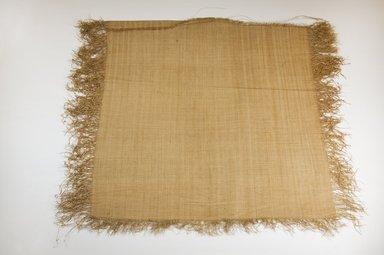 Possibly Kuba. Raffia Cloth, 19th century. Raffia, 19 2/8 x 18 1/8 in. (49.0 x 46.0 cm. Brooklyn Museum, Museum Expedition 1922, Robert B. Woodward Memorial Fund, 22.469.17. Creative Commons-BY