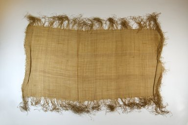 Possibly Kuba. Raffia Cloth, 19th century. Raffia, 25 3/8 x 13 3/8 in. (64.5 x 34.0 cm). Brooklyn Museum, Museum Expedition 1922, Robert B. Woodward Memorial Fund, 22.469.39. Creative Commons-BY