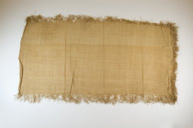 Possibly Kuba. Raffia Cloth, 19th century. Raffia, 29 1/8 x 13 5/8 in. (74.0 x 34.5 cm). Brooklyn Museum, Museum Expedition 1922, Robert B. Woodward Memorial Fund, 22.469.40. Creative Commons-BY