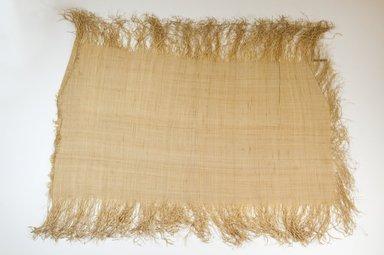 Possibly Kuba. Raffia Cloth, 19th century. Raffia, 21 x 11 1/4 in. (53.5 x 28.5 cm). Brooklyn Museum, Museum Expedition 1922, Robert B. Woodward Memorial Fund, 22.469.44. Creative Commons-BY
