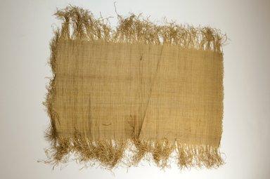 Possibly Kuba. Raffia Cloth, 19th century. Raffia, 21 7/8 x 11 3/8 in. (55.5 x 29.0 cm). Brooklyn Museum, Museum Expedition 1922, Robert B. Woodward Memorial Fund, 22.469.52. Creative Commons-BY