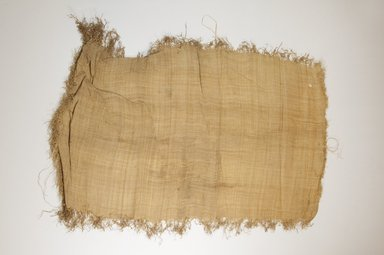 Possibly Kuba. Raffia Cloth, 19th century. Raffia, 66.0 x 36.0 cm including fringe. Brooklyn Museum, Museum Expedition 1922, Robert B. Woodward Memorial Fund, 22.469.7. Creative Commons-BY