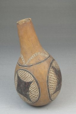 Calabash, before 1922. Calabash, clay, pigment, height: 5 1/2 in. (14 cm); diameter: 3 1/16 in. (7.8 cm). Brooklyn Museum, Museum Expedition 1922, Robert B. Woodward Memorial Fund, 22.512. Creative Commons-BY