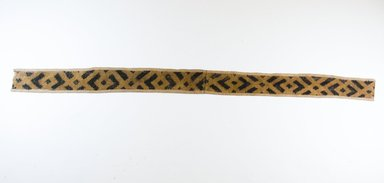 Kuba. Raffia Cut-Pile Cloth, 19th century. Raffia, 39 5/8 x 2 3/4 in. (102.0 x 7.0 cm). Brooklyn Museum, Museum Expedition 1922, Robert B. Woodward Memorial Fund, 22.552. Creative Commons-BY