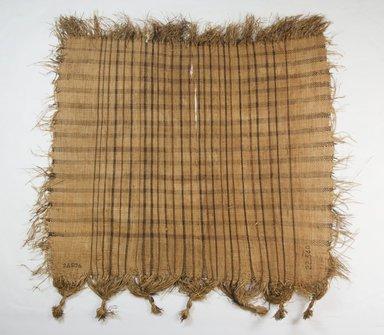 Raffia Cloth, 19th century. Raffia, 21 3/8 x 21 in. (54.5 x 53.5 cm). Brooklyn Museum, Museum Expedition 1922, Robert B. Woodward Memorial Fund, 22.560. Creative Commons-BY