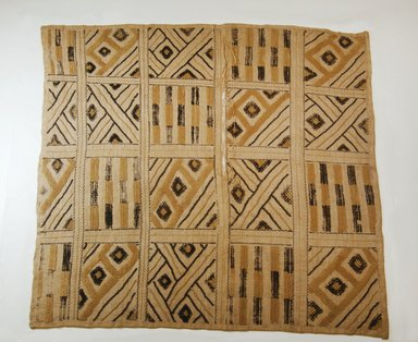 Kuba (Pyaang subgroup). Raffia Cut-Pile Panel, 19th century. Raffia, 25 3/16 x 25 9/16 in. (64 x 65 cm). Brooklyn Museum, Museum Expedition 1922, Robert B. Woodward Memorial Fund, 22.585. Creative Commons-BY