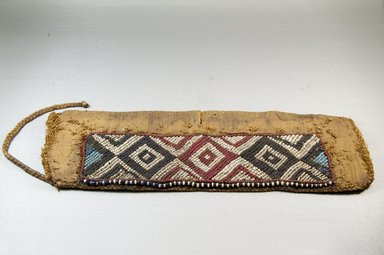Possibly Luba. Beadwork Headdress for Mbudye Official, 19th century., 16 3/8 x 5 1/2 in. (41.6 x 14 cm). Brooklyn Museum, Brooklyn Museum Collection, 22.596. Creative Commons-BY