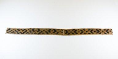 Kuba. Raffia Cut-Pile Cloth, 19th century. Raffia, 40 3/4 x 2 7/8 in. (88.0 x 8.0 cm). Brooklyn Museum, Museum Expedition 1922, Robert B. Woodward Memorial Fund, 22.689. Creative Commons-BY