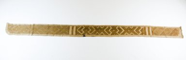 Kuba (Bushoong subgroup). Raffia Band, 19th century. Raffia, 48 7/16 x 3 7/16 in.  (123 x 8.7 cm). Brooklyn Museum, Museum Expedition 1922, Robert B. Woodward Memorial Fund, 22.708. Creative Commons-BY
