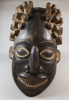 Tikar. Mask, late 19th or early 20th century. Wood, pigment, 18 1/8 x 10 5/8 x 8 1/4 in. (46 x 27 x 21 cm). Brooklyn Museum, Museum Expedition 1922, Robert B. Woodward Memorial Fund, 22.758. Creative Commons-BY