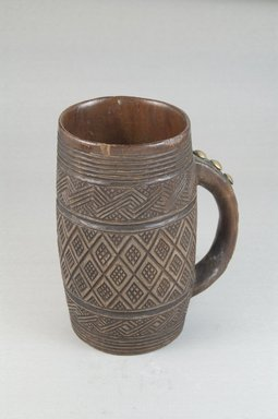 Kuba. Cup, early 20th century. Wood, metal, height: 5 1/2 in. (14 cm); diameter: 2 15/16 in. (7.5 cm). Brooklyn Museum, Museum Expedition 1922, Robert B. Woodward Memorial Fund, 22.795. Creative Commons-BY