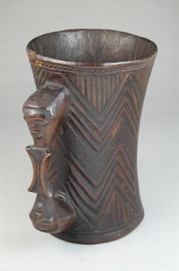 Kuba. Cup, early 20th century. Wood, 5 7/8 x 3 15/16 in. (15 x 10 cm). Brooklyn Museum, Museum Expedition 1922, Robert B. Woodward Memorial Fund, 22.801. Creative Commons-BY