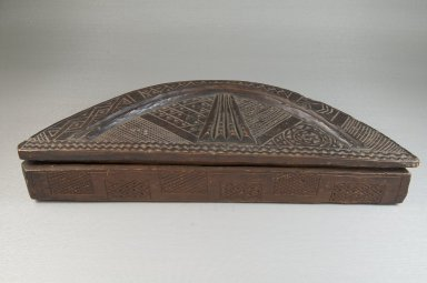 Kuba. Cosmetic Box, early 20th century. Wood, 13 1/2 x 2 1/8 in. (34.4 x 5.3 cm). Brooklyn Museum, Museum Expedition 1922, Robert B. Woodward Memorial Fund, 22.807a-b. Creative Commons-BY