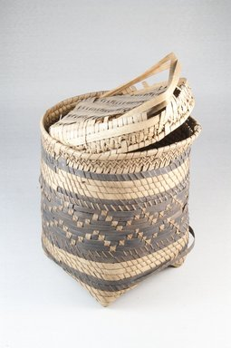 Basket with Cover, early 20th century. Vegetal fiber, height: (18.6 cm). Brooklyn Museum, Museum Expedition 1922, Robert B. Woodward Memorial Fund, 22.826a-b. Creative Commons-BY