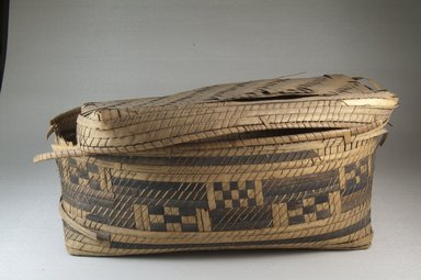 Brooklyn Museum: Oblong Plaited Basket