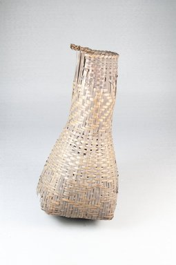 Bottle-shaped Basket, early 20th century. Vegetal fiber, 8 1/4 x 3 3/4 in. (21.0 x 9.0 cm). Brooklyn Museum, Museum Expedition 1922, Robert B. Woodward Memorial Fund, 22.843. Creative Commons-BY
